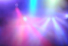 Blur stage lighting Stock Images