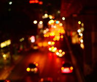 Blur street in town at night. Blur light of cars on street at night Stock Photography