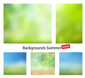 Blur summer abstract background. Blurred backgrounds for your projects. Summer vector gradient backgrounds. Set of summer abstract background with hints of color Stock Photography