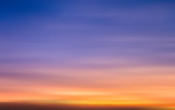 Blur of sunset sky illustration Stock Image