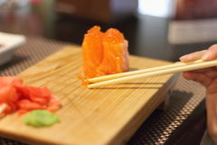 Blur of sushi Stock Image