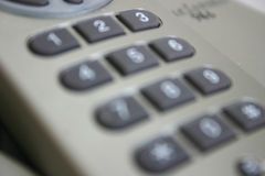 Blur of Telephone Keypad Stock Photography
