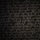 Blur text on dark brown fabric burlap Royalty Free Stock Photo