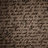 Blur text on fabric burlap with vignette Royalty Free Stock Photos