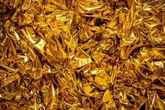 Blur Texture of the gold leaf, Gold background royalty free stock photography