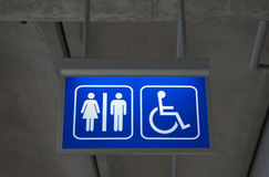 Blur toilet sign Stock Photo