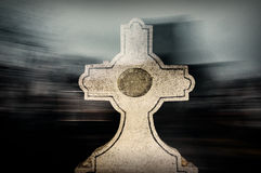 Blur of tombstone Stock Image