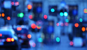 Blur traffic background with bokeh Stock Images