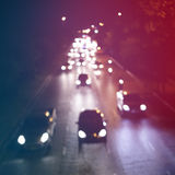 Blur traffic with bokeh Royalty Free Stock Images