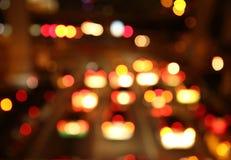 Blur of traffic light at night Royalty Free Stock Photo