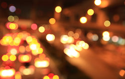 Blur of traffic light at night Royalty Free Stock Photos