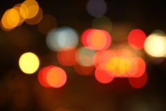 Blur of traffic light at night Royalty Free Stock Photography