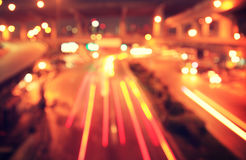 Blur of traffic light at night Royalty Free Stock Images