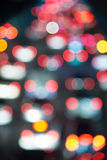 Blur of traffic light at night scene Royalty Free Stock Images
