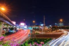 Blur traffic light at Victory monument public landmark Stock Images