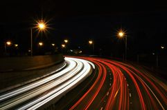 Blur of traffic at night Royalty Free Stock Photo
