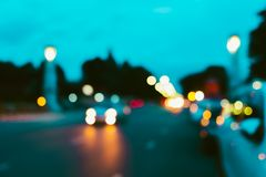 Blur traffic road with cars and other vehicle. royalty free stock photo