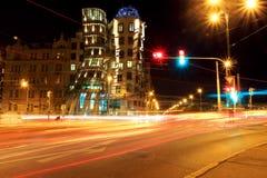 Blur of traffic on road at night