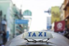 Blur tuktuk cab Royalty Free Stock Images