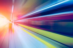 Blur at Underground Train station for High speed business perform stock images
