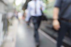 Blur walking office men Stock Images