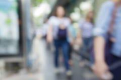 Blur walking pedestrian Stock Images