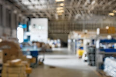 Blur warehouse royalty free stock photography