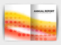Blur wave business print template, abstract background. Business flyer, report or magazine cover design royalty free illustration