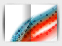 Blur wave business print template, abstract background Royalty Free Stock Image