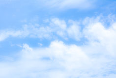 blur white cloud and blue sky background image Stock Images
