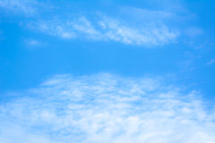 Blur white cloud and blue sky background image. Royalty Free Stock Photo