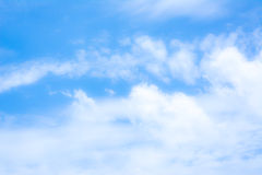 blur white cloud and blue sky background image. Stock Images