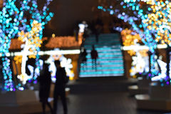 Blur Winter Illumination in Japan Royalty Free Stock Photo