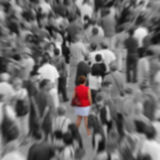 Blur woman in a crowd Stock Images