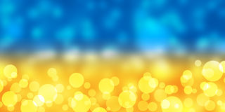 Blur Yellow and Blue Background Stock Images