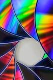 Bluray cd dvd för regnbåge Arkivbilder