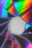 Bluray cd dvd för regnbåge Arkivfoto