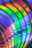 Bluray cd dvd för regnbåge Fotografering för Bildbyråer