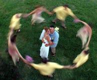 blurcirkelbröllop Fotografering för Bildbyråer