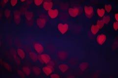 Blure bokeh心脏墙纸和背景 库存照片