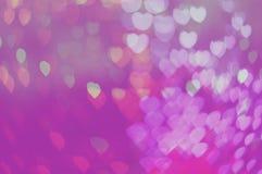 Blure bokeh心脏桃红色贴墙纸纹理和背景 免版税图库摄影