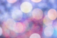 Blure bokeh纹理贴墙纸彩虹泡影和背景 库存照片