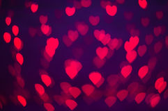 Blure bokeh heart wallpapers and background Royalty Free Stock Images