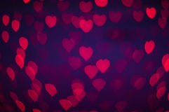 Blure bokeh heart wallpapers and background. Blue pink white orange red yellow green brown silver turquoise grey purple rainbow violet colorful no focus make it Stock Photo