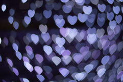 Blure-bokeh Herztapeten und -hintergrund Lizenzfreies Stockfoto