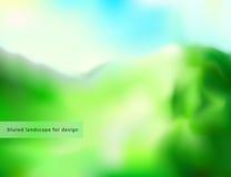 Blure landskapbakgrund för design Royaltyfri Illustrationer