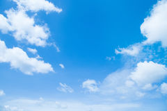 Blure sky with clouds Stock Photography