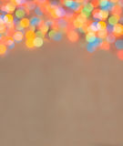 Blured圣诞灯垂直背景 免版税库存图片