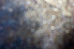Blured金黄背景-好和美好的bokeh 免版税库存照片