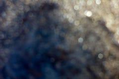 Blured金黄背景-好和美好的bokeh 免版税图库摄影